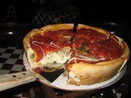 Pizza from Giordano's in Chicago.